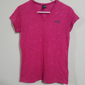 The North Face Womens Small Pink Top Shirt T-Shirt